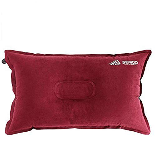 Semoo Camping Almohada/Linen de Aire Inflable autoinflable para Camping, Trekking y Viajes,...