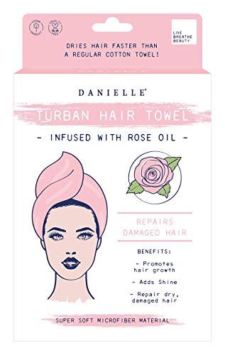 Danielle Creations - Asciugamano turbante super morbido con olio di rosa, rosa