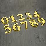 10CM números de casa autoadhesivo buzón números impermeable dirección puerta calle número pegatinas para casa buzón apartamento hotel puerta habitación, oro