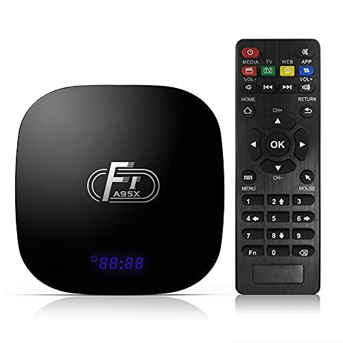skrskr A95X F1 Android 8.1 TV Box Amlogic S905W Smart TV Set Top Box Control Remoto Quad Core VP9 H.265 2GB / 16GB 2.4G WiFi 100M LAN HD Reproductor Multimedia HD Pantalla LED