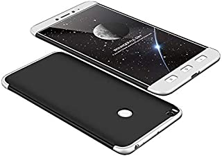Xiaomi Mi Max 2 GKK Case 360 Degree 3 in 1 Full Body Protection Hard PC Cover - Black -Silver