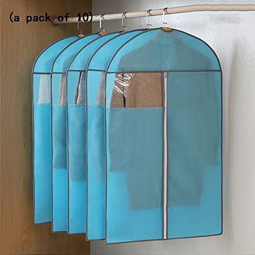 QFFL Sac de compression sous vide Housse de protection anti-poussière pour ménage Transparent Plus, vêtements épais non tissés, sac anti-poussière pour vêtements (un paquet de 10) Sac de protection