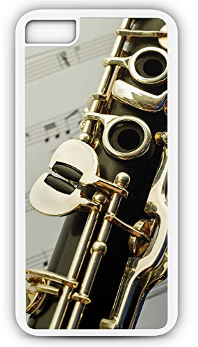 iPhone 8 Case Fits iPhone 8 or iPhone 7 Clarinet Single Reed Mouthpiece Flared Bell 20845 White Rubber by TYD Designs