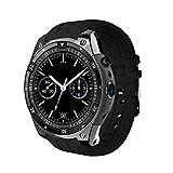 ZLOPV Intelligente Uhr Neue intelligente Uhren mit 2.0 MP Kamera3G WiFi GPS Bluetooth 4.0 SmarWatch Männer für Androide Smartwatches PK Q7 kw88 X200 i4, schwarz