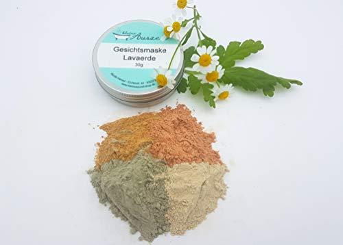 Gesichtsmaske Lavaerde - bei fettiger Haut, vegan, ohne Palmöl und Konservierungsstoffe, Gesichtsmaske aus natürlichen Heilerden von kleine Auszeit Manufaktur