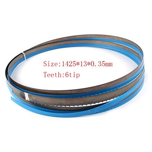 GZYF Lames de scie à ruban bimétallique 1425MM * 13MM * 6 TPI pour la coupe en plastique du bois