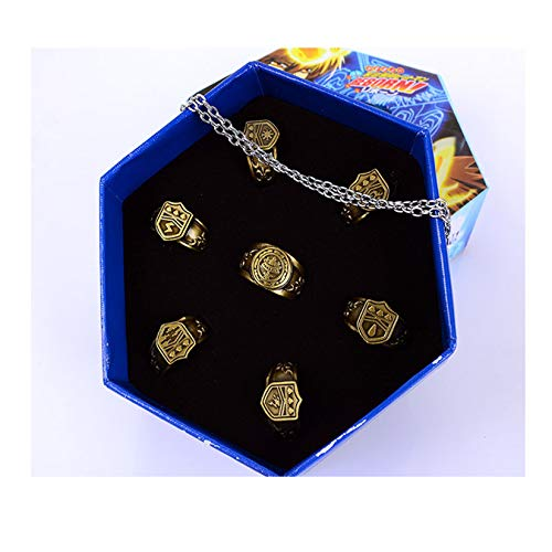 super9 Japanese Anime Katekyo Hitman Reborn Cosplay Costume Accessories - Set of Seven Rings and Necklace