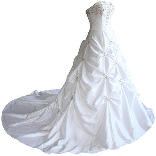 FairOnly Liebsten TAFT Hochzeits Brautkleid X58 (XXL, Weiß)