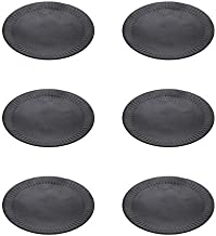 Hosley Set of 6 Black Iron Pillar Plates 4 Inch Diameter Ideal Gift for Wedding Special Occasion and for a Candle Holder or as a Pedestal O5