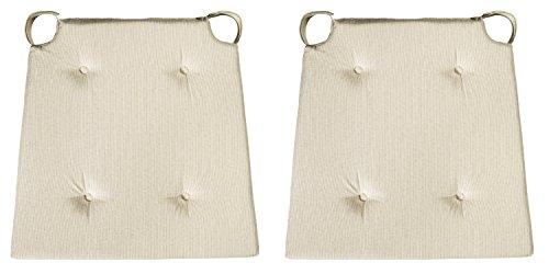 sleepling 190188 Conjunto de 2 Cojines para Silla, Dimensiones: 42 (Delante) / 35 (detrás) x 40 x 5 cm, Beige