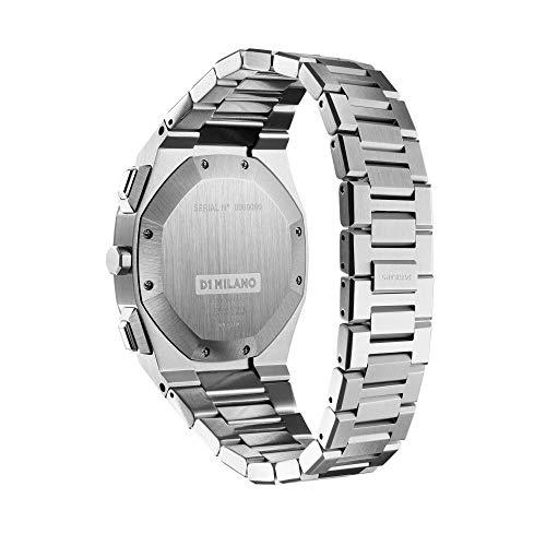 [D1MILANO]D1ミラノ時計メンズ/クロノグラフブラックステンレススチール【日本総輸入代理店】