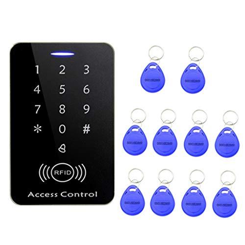Wasserfestes Zugangssystem RFID Codeschloss Türöffner Zutrittskontrolle mit 10 Schlüsselanhänger