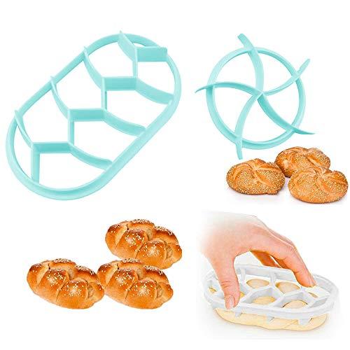 "SSyang 2 sztuki foremek do ciast, ciasteczek, ciasteczek, forma do pieczenia, forma do pieczenia bułek, stemple cesarskie, ciasteczka, forma do pieczenia chleba ""zrób to sam"", do domu"