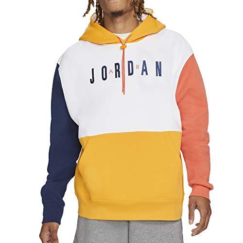 Sudadera Air Jordan Hombre con Capucha Blanca Azul y Amarilla CW8434-100