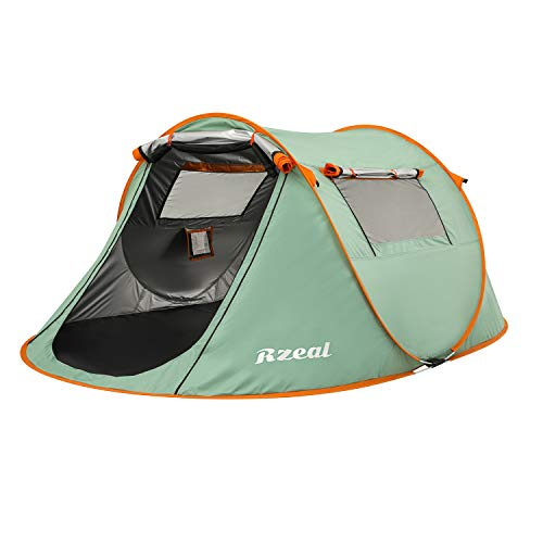 Pop Up Camping Tent, 2 Person Tent Outdoor Automatic Darkness Tents Double Layers Blackout Tent Waterproof Camping Hiking Tent - Extra Dark Interior...