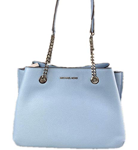 Made of Pebbled leather; Snap fastening; Interior details: back zip pocket, center zip compartment, front slip pockets Shoulder straps drop of 9.5 inches drop; Character: Karla, Teagen, Bill, Michael, Pebbles Measurements: Length: 12 x Height: 9 x Wi...