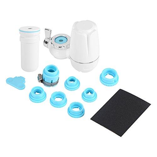 Filtro de agua de cerámica - Purificador de filtro de agua de montaje en grifo de cocina para el hogar con núcleo de cerámica lavable (blanco) para varios niveles de filtración