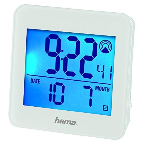 Hama Funk Wecker RC 610 (Hintergrundbeleuchtung & Schlummerfunktion per Bewegungssensor steuerbar, Speed-Alarm) weiß