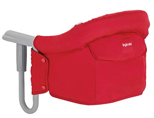 Inglesina AY90G5RED Tischsitz passend für fastalle Tische Ihr Kind kann mit Ihnen ganz normal am Tisch sitzen, Rot (Red)