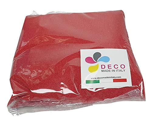 Deco Made in Italy Sabbia Colorata 0,5 mm Sacchetto da 1kg - Sabbia Colore Rosso