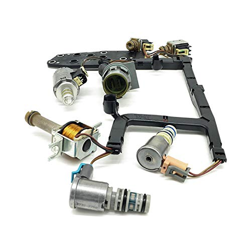 4L60E 4L65E Remanfactured Transmission Solenoid Kit W/Harness Compatible with 2003-2005
