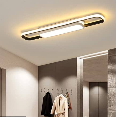ZJLW Movimento Sensoriale Plafoniera, LED a Filo Montare Illuminazione a soffitto apparecchio Rettangolo Moderno Lampe per Portico Corridoio Porta Lavanderia Illuminazione, dimmerabile