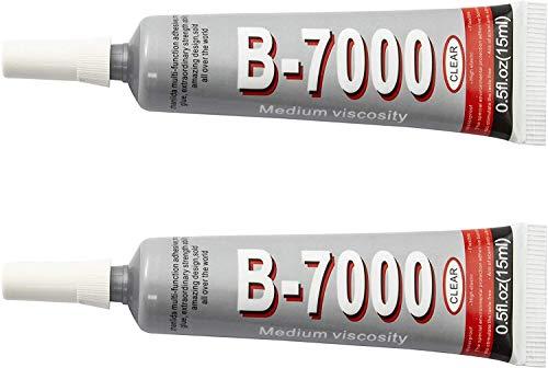 ZHANLIDA B-7000 Pegamento Industrial Multifuncional - Viscosidad Media - Transparente (2X15ML)
