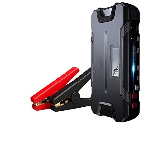 WCLOC Arrancador para Coche, Arrancador PortáTil para Coche 400a Pico 12000 Mah con Carga RáPida De 2 USB, Cargador De BateríA De Coche De 12 V, Refuerzo De BateríA