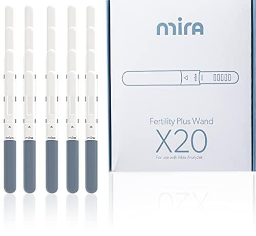 Mira Fertility PLUS 20 varitas de reemplazo de ovulación para el metabolito LH + estrógeno-estradiol (E3G) | Funciona con el analizador y rastreador de hormonas Mira Fertility PLUS