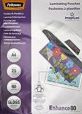 Fellowes ImageLast - Pack de 25 fundas de plastificar, formato A4, 80 micras