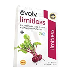 A proprietary concentration of betalains from pure beet root extract to help the body support joint comfort and flexibility. The concentrated betalains in Limitless give you a high-powered way to live life to the fullest. Limitless contains a proprie...