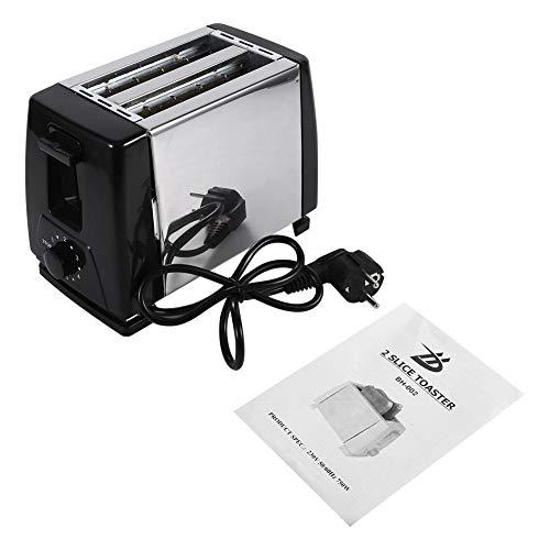 Sugoyi Toaster, Breitschlitz-Toaster 2-Scheiben-Toaster Edelstahlmaschine 750W elektrisch zum Frühstück Haushaltsbrotbacken