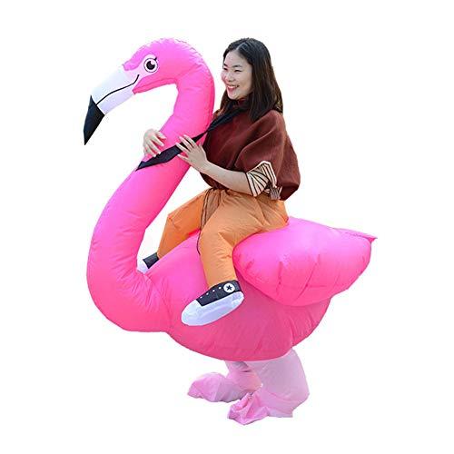 LINAG Lustige Aufblasbare Kostüm für Erwachsene, Aufblasbares Flamingo Kleidung für Halloween Karneval Fastnacht Fasching Cosplay,A,OneSize