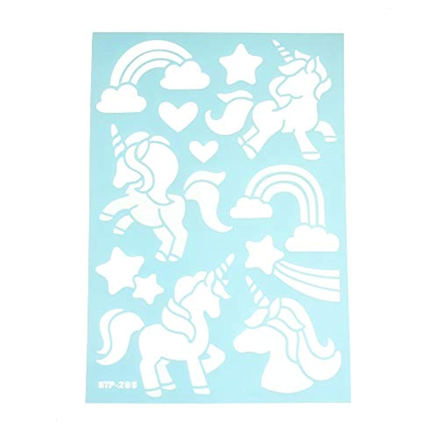 Homeford Unicorn & Rainbow Multi-Media Stencil, 11-Inch