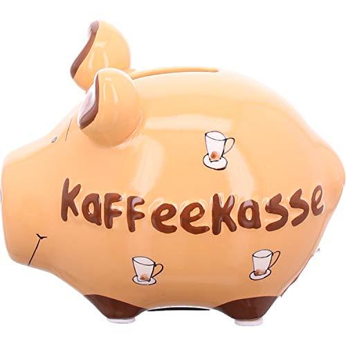 KCG Keramik Sparschwein KAFFEEKASSE ca. 12.5 cm x 9cm