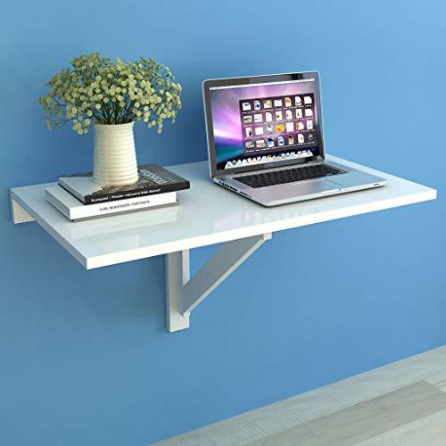 Tidyard Wandklapptisch Klapptisch Wand Wandtisch Klappbar Esstisch Schreibtisch Wandmontierte Küchentisch Laptoptisch Computertisch Tisch, Weiß 100x60 cm