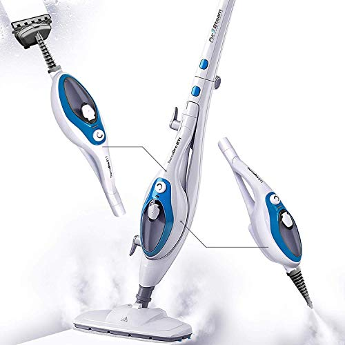 Steam Mop Cleaner 10-in-1 with Convenient Detachable Handheld Unit, Laminate/Hardwood/Tiles/Carpet...