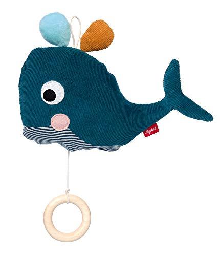 SIGIKID Mädchen und Jungen, Spieluhr zum Aufziehen, Wal Urban, Babyspielzeug, empfohlen ab 0 Monaten, blau, 42522