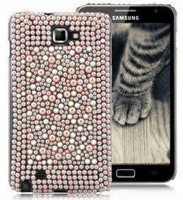 Terminal perles de coquillage coquille coquille protectrice de couverture de caisse Samsung Galaxy Note femmes chic et élégant femme fille Phone Case brillant rose