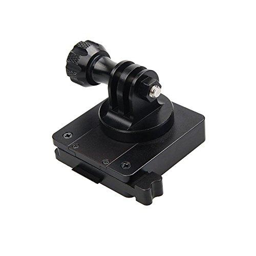 Deylaying CNC Aluminium Casque Base de Fastener Fixé Adaptateur Monture Accessoires pour Xiaomi Yi 2 4K 4K+ Xiaoyi Caméra