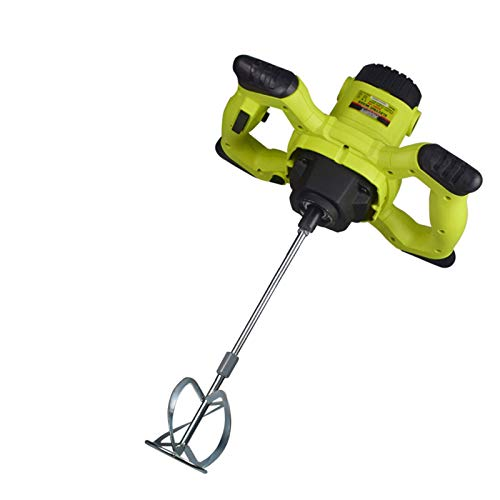 1600W Cement Mixer,Electric Plaster Paddle Mixer Mortar Paint Stirrer Whisk,6 Variable Speeds,Electric Pro Industrial Drill Mixer Stirring Tool for Mortar Grouts Paint Cement Plaster Plastering