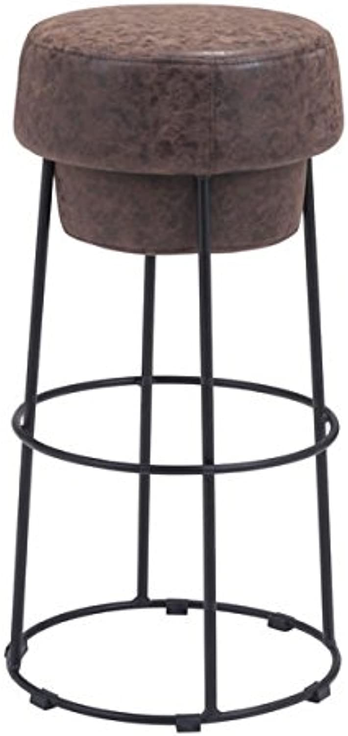 Zuo Pop Barstool, Natural Distressed