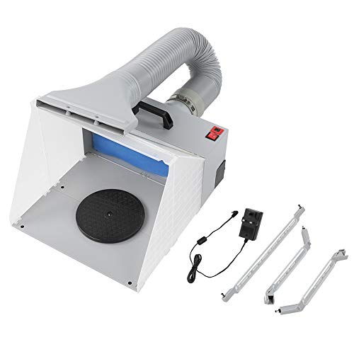 Cloudbox Kit de Cabina de Pintura con aerógrafo Kit de Cabina de Pintura con aerógrafo Filtro Extractor de Cabina de Pintura Artesanal UK 100-240V