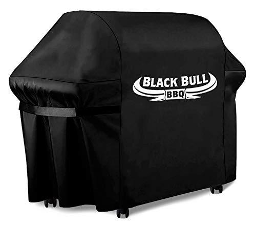 Black Bull BBQ - Universelle Grillabdeckung [122cm x 61cm x 147cm] - Innovative Grill Abdeckhaube - Grillabdeckung wetterfest und wasserdicht [100%]