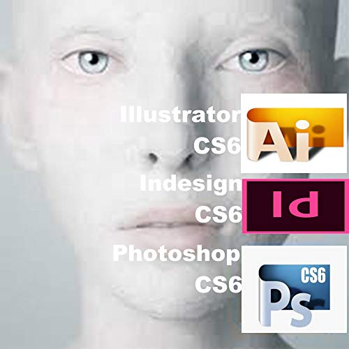 Photoshop CS6 (EN, DE) Illustrator (EN) & Indesign CS6 (EN), Win7/8/10, 1PC [100% authentisch. Sofort per email oder via Amazon Plattform, KEIN PAKETVERSAND]