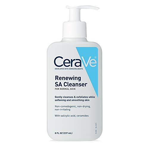 CeraVe Salicylic Acid Cleanser | 8 Ounce | Renewing Exfoliating Face Wash with Vitamin D for Rough and Bumpy Skin | Fragrance Free