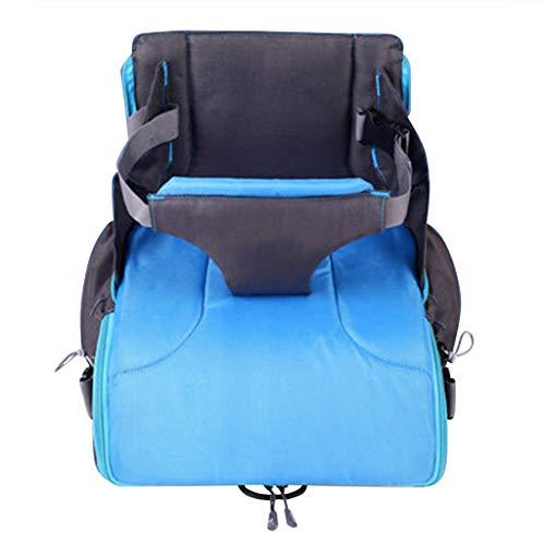 TMY chaises hautes 2 in 1 Portable Baby Booster Sièges Sac À Langer pour Maman Bébé Chaise Nourrir Mama Nappy Sac Pliable Sac À Dos À Couche (Color : Blue)