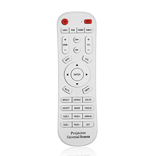 Samfox Reemplazo General Compatible Proyector Universal Control Remoto