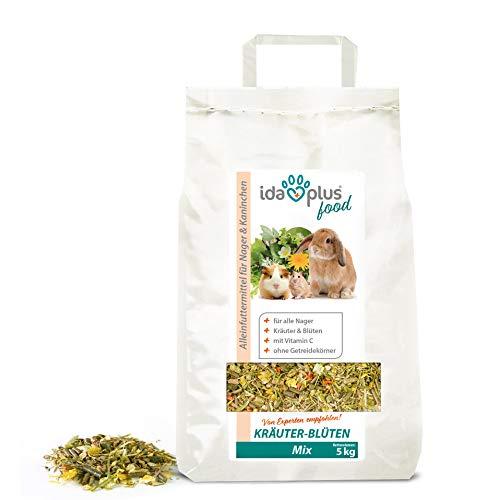 Ida Plus – Kräuter-Blüten Mix 3,5 kg – Abwechslungsreicher Futter-Mix für Nager: Kaninchen, Zwergkaninchen, Hamster, Meerschweinchen, Chinchillas usw. – mit Karotte & Luzerne + Vitamin C - 2