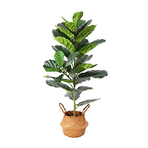 Ferrgoal Artificial Fiddle Leaf Fig Plants 39 Inch Fake Ficus Lyrata Tree with...